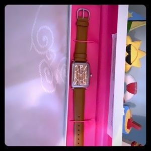 Leather band strap watch never used